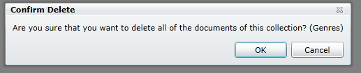 Figure 4: Confirm Deleting a Collection