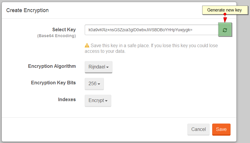 Figure 2. Studio. Encryption. Configure.