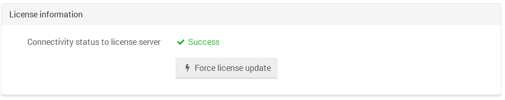 Figure 1. Manage Your Server. License information.