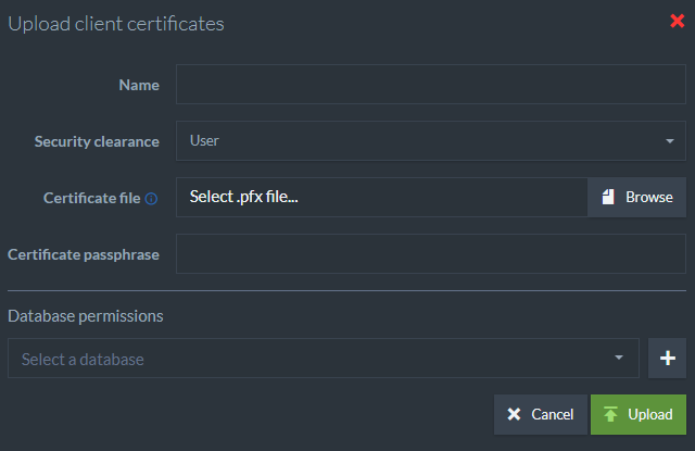 Figure 4. Upload Existing Certificate