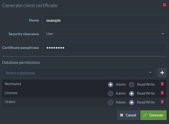 Authentication: Certificate Management | RavenDB 4 1