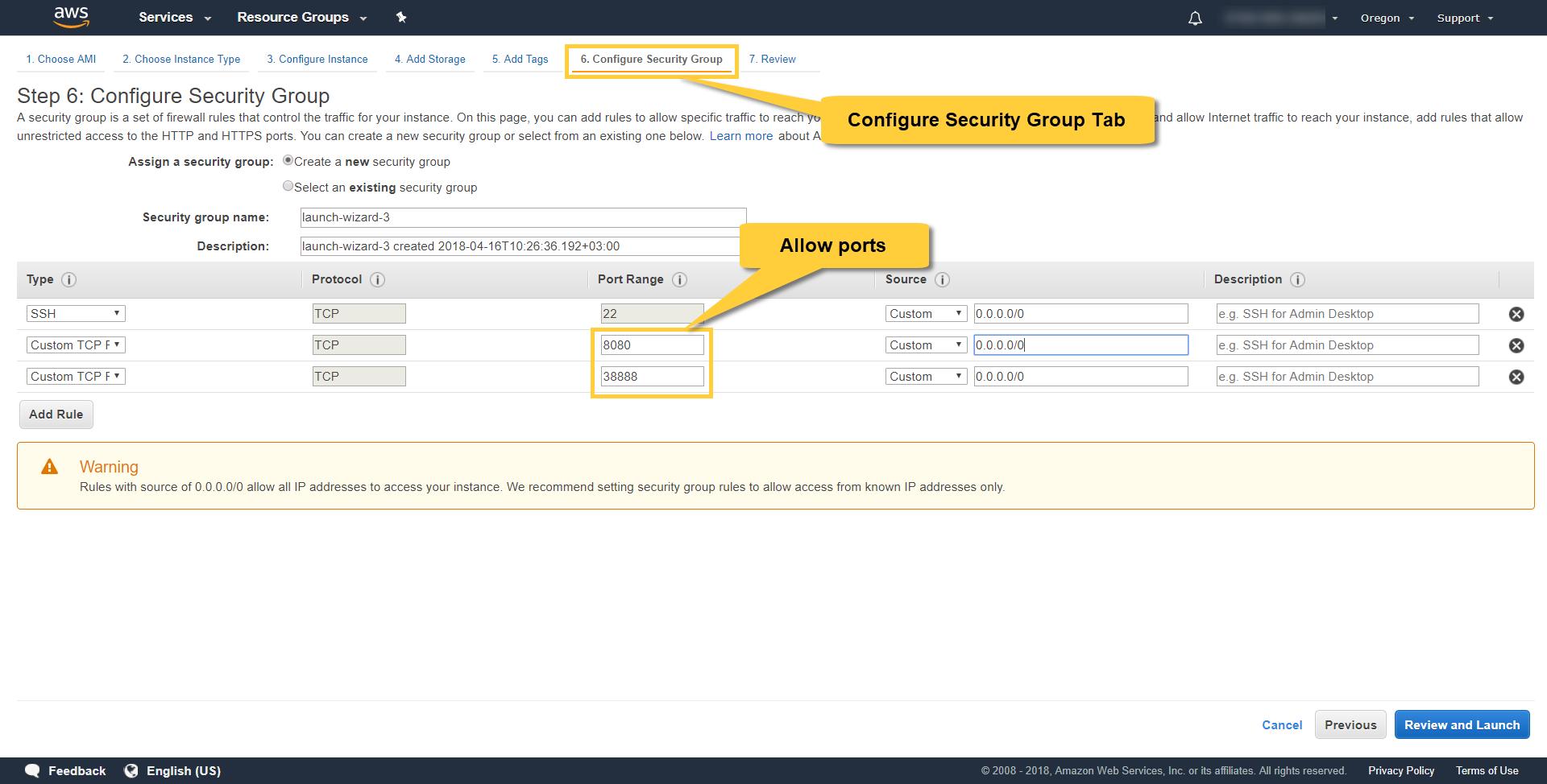 Setup Examples: Docker on AWS Linux VM   RavenDB 4 1 Documentation