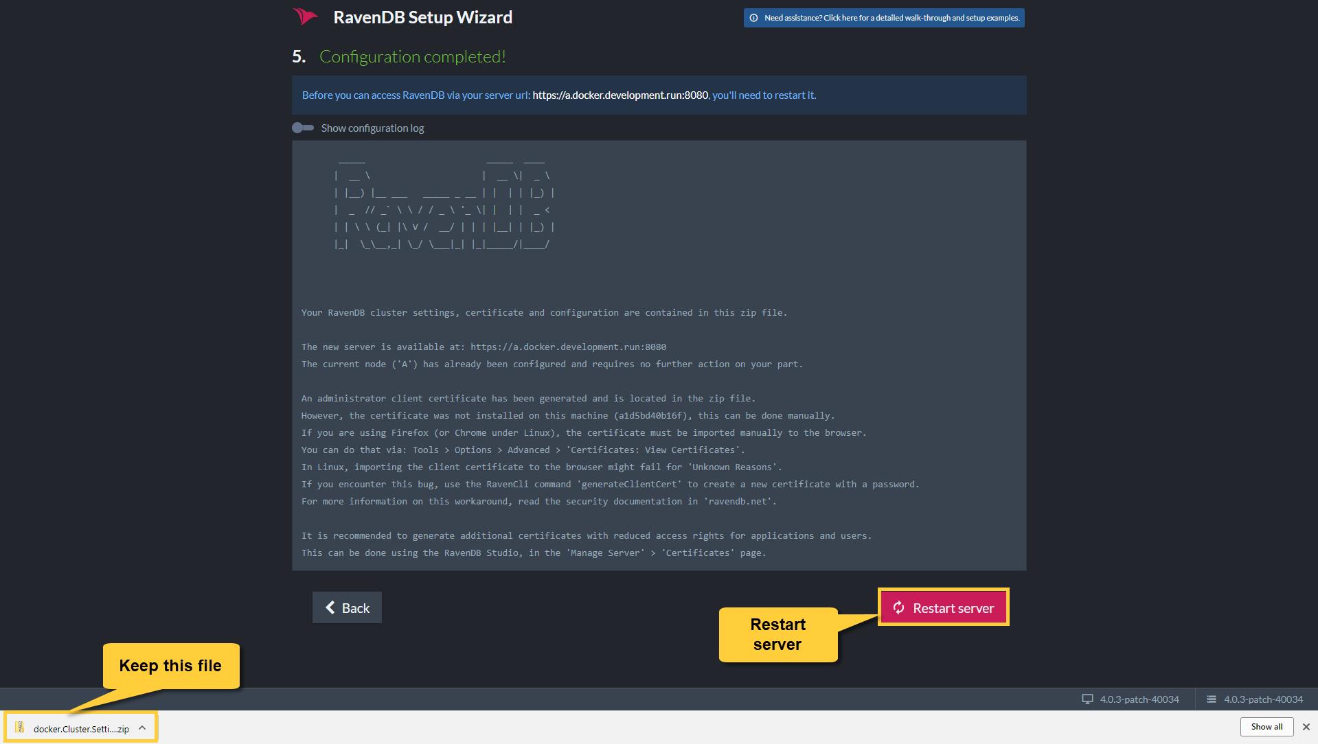 Setup Examples: Docker on AWS Linux VM | RavenDB 4 1