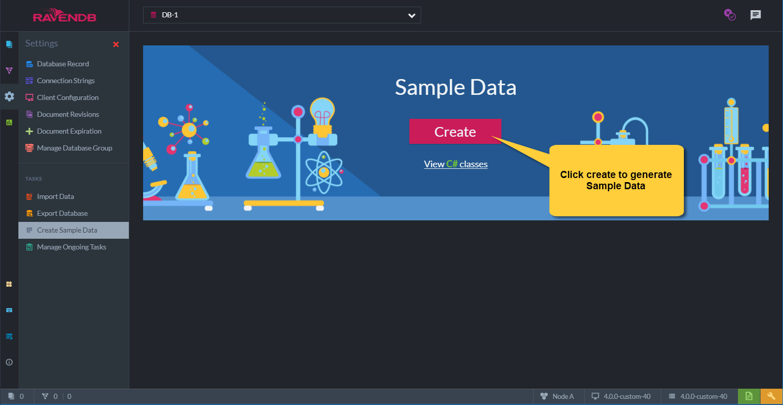Figure 1. Create Sample Data
