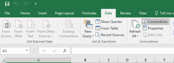 Excel connections