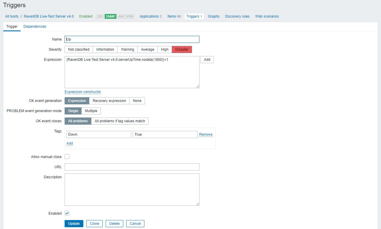 Monitoring: How to Setup Zabbix Monitoring   RavenDB 4 2 Documentation