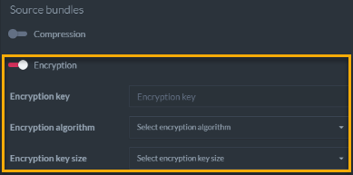 Figure 4. Create New Database From Legacy Files - Encryption
