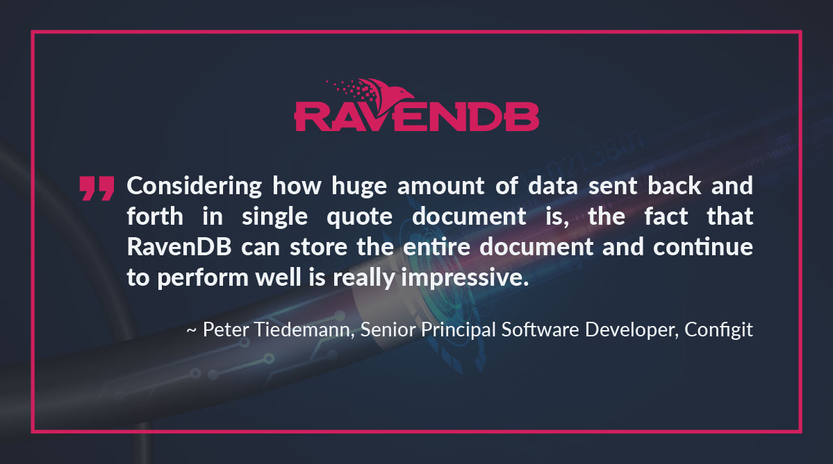 The fact that RavenDB can store the entire document and continue to perform well is really impressive.